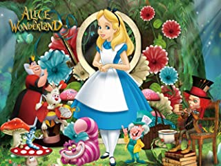 Alice in Wonderland Backdrop   Tea Party Background   Princess Girl   1st Birthday   Photography   Banner