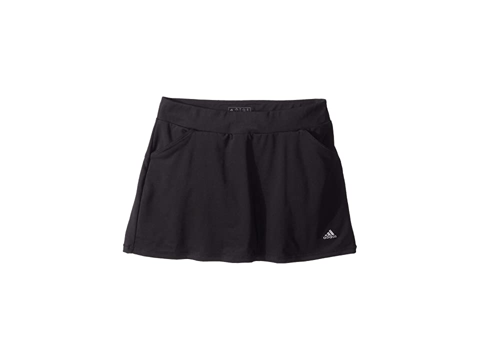 Image of adidas Golf Kids Solid Golf Skort (Big Kids) (Black) Girl's Skort