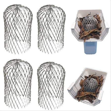 LISHINE 10 Pack 3 Inch Gutter Guard Leaf Filter Gutter Downspout Protector for Stopping Blockage Leaves and Debris Expandable Aluminum Filter Strainer