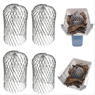 Best Gutter Guard 3 Inch Expand Aluminum Filter Strainer. Stops Blockage Leaves Debris. Pack of 4. by Massca (Aluminum 3 inch) Review