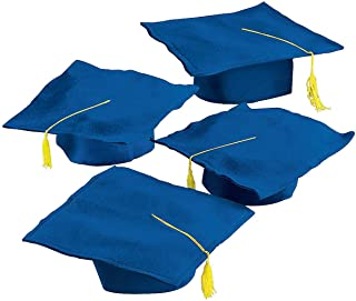 Fun Express Graduation Caps with Tassels Felt Graduation Caps - Royal Blue (1 Dozen - 12 Graduation Hats)