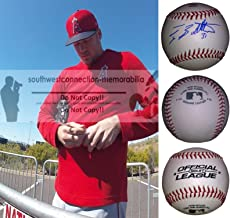 Ty Buttrey Los Angeles Angels Autographed Hand Signed Baseball with Exact Proof Photo of Signing and COA- LA Angels Collectibles