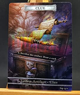 GnD Cards 1x Clue #1 FOIL Laminated Custom Altered Token