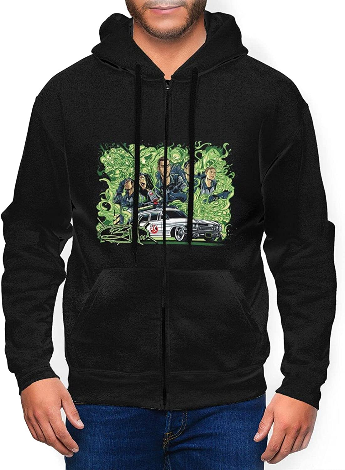 Ruporch Lowest price challenge 311-Band Men's Hoodie Fashion Full Active Zip Sweatshirt Hooded