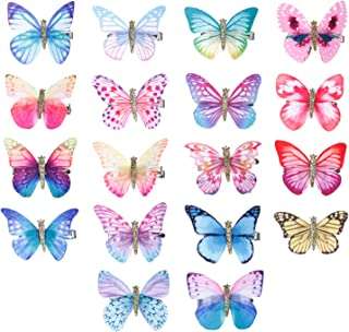 LOCOLO 18Pcs Baby Girl Hair Clips Butterfly Hair Clips Toddlers Infants Kids Hair Butterfly Snap Clips Barrettes for Women Girl and Infant