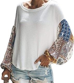 Women Loose Sweater Lantern Sleeve Oversized Pullover