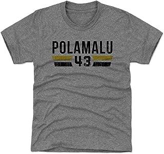 500 LEVEL Troy Polamalu Pittsburgh Football Kids Shirt - Troy Polamalu Font