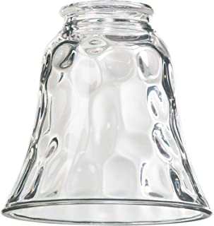 Dysmio Lighting - Clear Hammered Style Glass Shade, 2-1/4