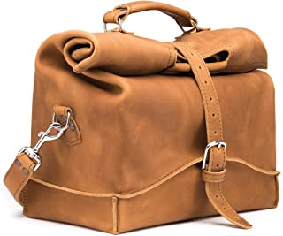 Saddleback Leather Co. Mens Overnight Leather Carry On Travel Duffel Bag Includes 100 Year Warranty