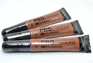 L.A. Girl Pro Concealer 3 x GC981 Toast HD High Definition Liquid Pro Conceal + FREE EARRING by LA Girl