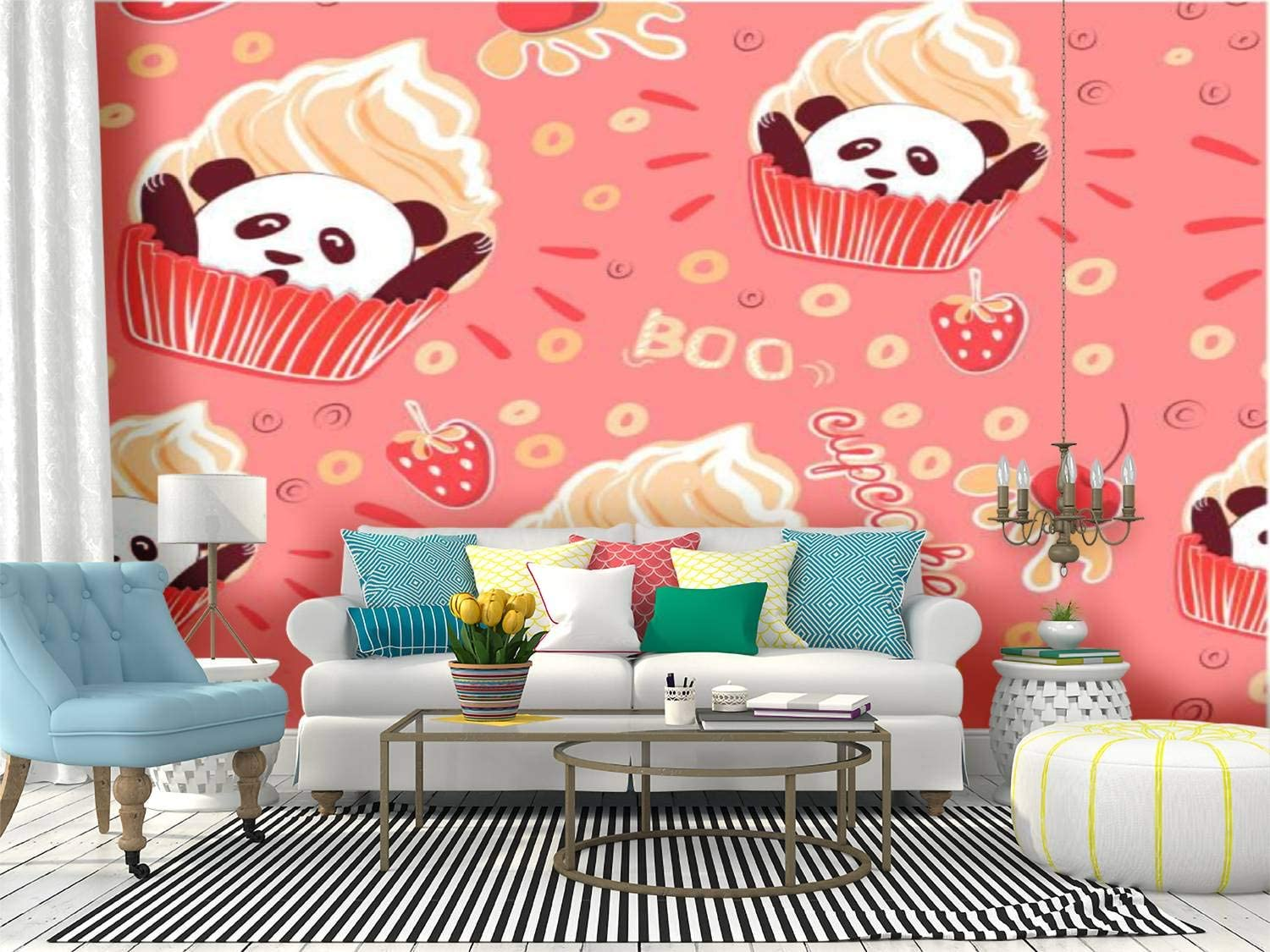 RECETHROWS Wall Mural Pattern for Underwear New sales Stock Baby Illustrat Luxury goods