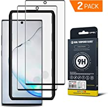 GPEL Galaxy Note 10 Plus Screen Protector [2-Pack] Tempered Glass Compatible with Ultrasonic Fingerprint Case Friendly HD Clear 3D Curved Bubble Free 9H Hardness Easy Installation with Applicator