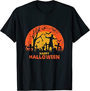 Cimetière grunge effrayant Happy Halloween T-Shirt