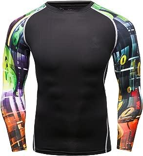 Men's Soft Slim Long Sleeve Dry-Fit Compression Gym Trainning Shirt