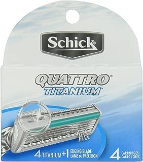 Best schick quattro cartridges titanium coated blades Reviews