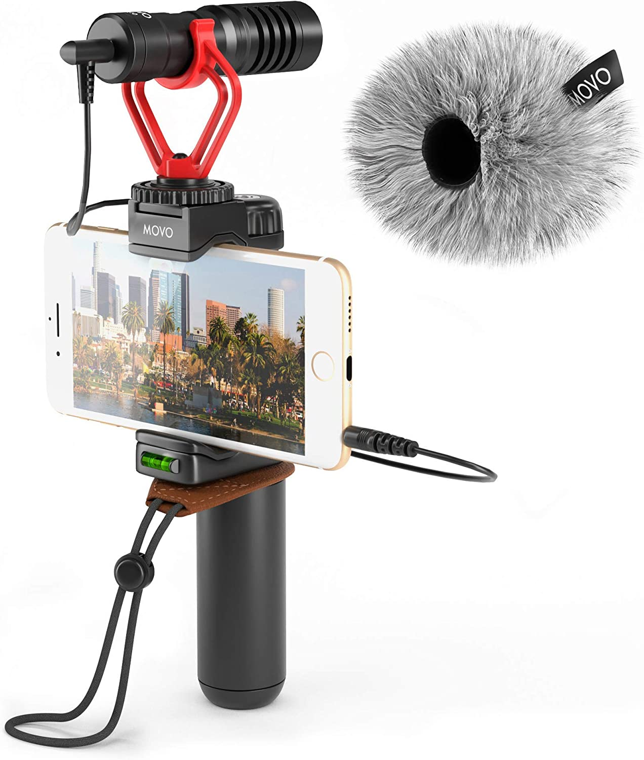 Movo Smartphone Video Rig with Grip Microphone Handle Shotgun Daily bargain sale OFFer