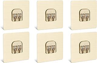 YeeBeny Corner Shower Caddy Adhesive Sticker Hook Mount for Shower Caddy Basket Bathroom Shelf Compatible with Zenna Home,...