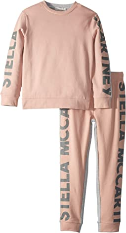 Delaney + Daria Stella Logo'd Sweater & Sweatpants Set (Toddler/Little Kids/Big Kids)