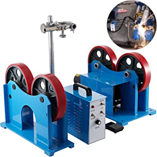 Mophorn Turning Rolls Linkage Roller 1000 KG/2200 LBS Load Capacity Welding Turning Roll 20-1500mm Welding Positioner 110V Welding Equipment Support