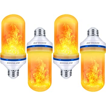 Flame Bulb Light E27 Base 9W LED Flame Effect Flickering Fire Light Bulbs 4 Lighting Modes Gravity Breathing General Decorative Retro Atmosphere Garden Wedding Party Christmas-Middle/_5w/_B22 1 Pack