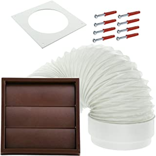 Spares2go Exterior Wall Venting Kit For Bush Tumble Dryers (Brown, 4