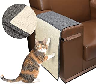 Docamor Cat Scratching Mat Sisal Sofa Shield Pet Furniture Cover Washable and Durable Cat Scratcher Pad Cover to Prevent Furniture Scratch
