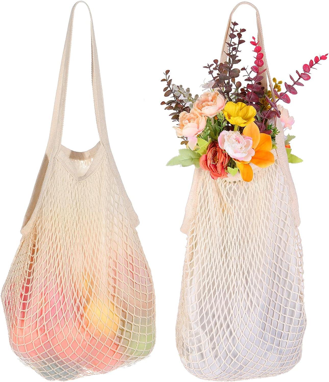 Dayard Reusable Ranking TOP12 Cotton Mesh Bags Net Handles with Bag Shopping Super-cheap