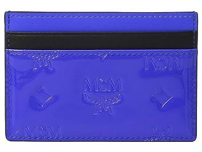 MCM Patricia Monogrammed Patent Card Case Mini (Neon Cobalt) Coin Purse