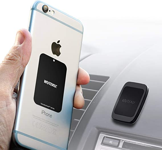WUTEKU Flat Magnetic Cell Phone Holder Kit for Car