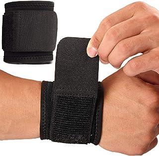 مچ بند ، 2 بسته بسته بندی مچ دست برای تونل کارپال برای زنان و مردان. بندهای مچ دست برای وزنه برداری ، تمرین و تسکین درد. انعطاف پذیر ، بسیار کشسان ، قابل تنظیم ، راحت و چند منظوره