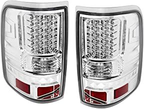 Fit 2004-2008 Ford F150 Style Side Only Led Tail Lights Chrome Housing/Clear Lens