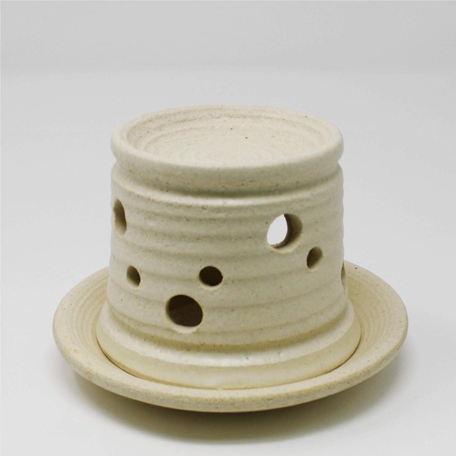 ルアーバラバラにする余分な茶香炉 白 【 和 】-NAGOMI- 瀬戸焼 香炉 こうろ お香 ほうじ茶 コーヒー 陶器 キャンドル ライト ローソク ろうそく
