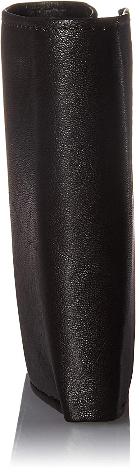 Steve Madden Men's Leather RFID Trifold Wallet with ID Window