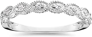 Best vintage white gold diamond wedding band Reviews