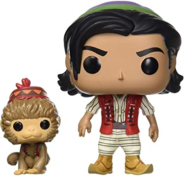 Funko Pop! Disney: Aladdin Live Action - Aladdin with Abu, Multicolor, us one-Size