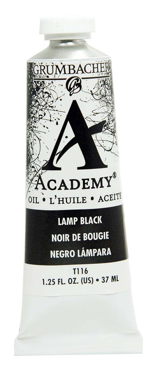 Grumbacher Academy Oil Paint, 37ml/1.25 Ounce, Lamp Black (T116)
