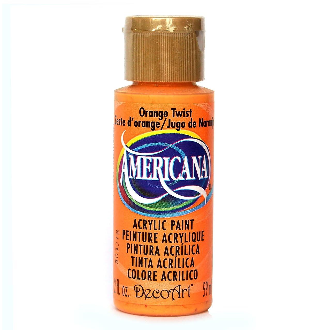 DecoArt Americana Acrylic Paint, 2-Ounce, Orange Twist