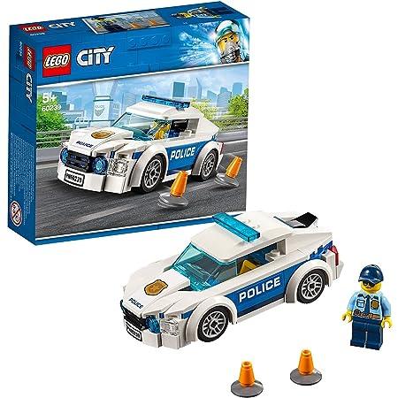 LEGO 60239 City LaVoituredePatrouilledelaPolice avec Figurine de Policier, Ensembles de véhicules de Poursuite pour Enfants