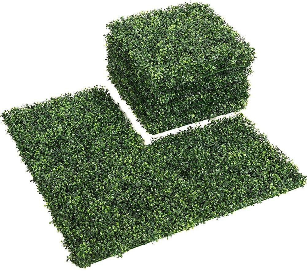 Boston Mall LITA Artificial Hedge Boxwood Fence Popular brand UV Privacy Plant Protected