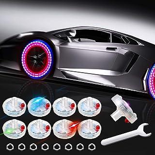 8 قطعه هاب چراغ درپوش چراغ چراغ چرخ اتومبیل چراغ چرخ تایر خورشیدی چراغ چشمک زن انرژی خورشیدی برای وسایل نقلیه اتومبیل اتومبیل موتورسیکلت دوچرخه