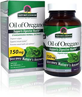 Nature's Answer Oil of Oregano Capsule Softgels, 90-Count | Natural Immune Booster | Promotes Healthy Digestion & Gut Flora