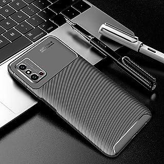 جراب QGTONG-SA لهاتف Huawei Honor X10 Max 5G من ألياف الكربون ونسيج مضاد للصدمات