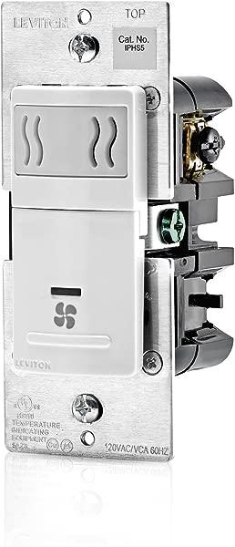Leviton IPHS5 1LW Decora In Wall Humidity Sensor Fan Control 3A Single Pole White