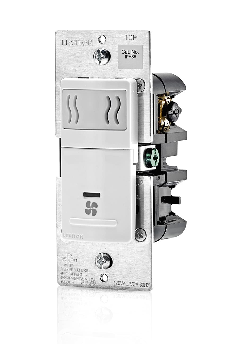 Leviton IPHS5-1LW Decora In-Wall Humidity Sensor & Fan Control , 3A, Single Pole, White zfbwqrdst