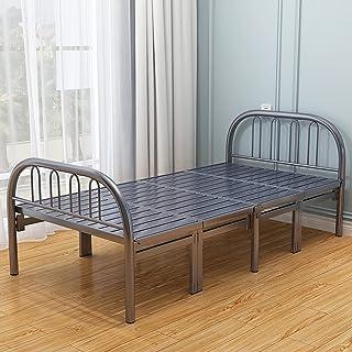 Household items Lit Simple de Rechange Adulte de Cadre de lit Pliant en métal, Accueil lit d'appoint Enfant Silencieux lit...