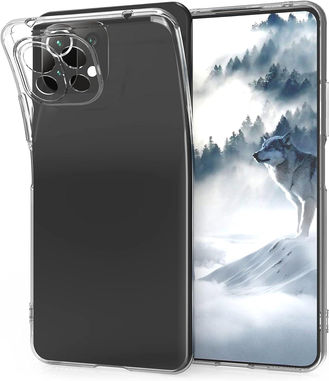 kwmobile Carcasa Compatible con Xiaomi Mi 11 Lite (5G) - Funda de Silicona para móvil - Cover Trasero en Transparente