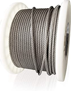 T316 Stainless Steel Wire Rope - 1/8 Inch - 200Ft - for Cable Railing Kit