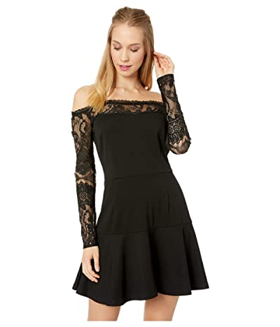 BB Dakota Lacey Days Off the Shoulder Dress (Black) Women