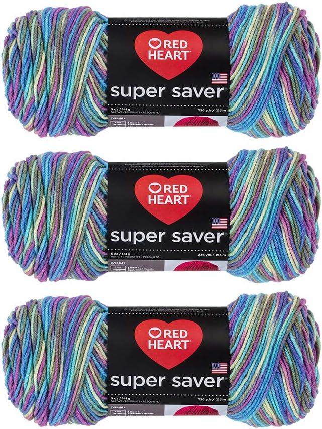 Carrot E300-256 3-Pack Bulk Buy Red Heart Super Saver Yarn
