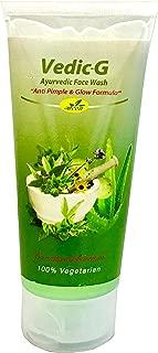Vedic-G Face Wash Natural Himalayan Herbal Anti Pimple, Glow formula - Aloe Vera, Chamomile, Glycolic Acid, SLS, Glycerin & Vitamin E Pure Vegetarian - Net Wt. 100ml